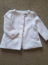 Zara Baby Girl White Cotton Coat 9-12 months