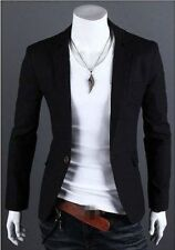 Fashion Men's Slim Fit Stylish Formal Casual One Button Suit Blazers Coat Jacket