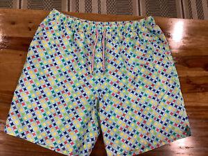 Peter Millar Swim Trunks Men's XL 34 in waist beach pool  ElasticWaist      1156