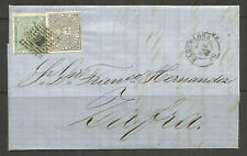 SPAIN. 1875. ENTIRE. BARCELONA TO ZAFRA.