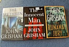 LOT OF THREE JOHN GRISHAM HARDCOVER BOOKS WITH FIRST EDITIONS **FREE SHIPPING**