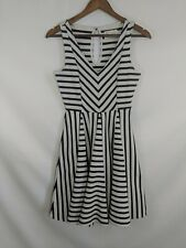 1e5515847aa09 Anthropologie Saturday Sunday Striped Jersey Swing Dress XS Knit Black/Off  White