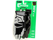 Cutters Football Receiver Gloves Youth Size M Rev 2.0 Black New!  NWT