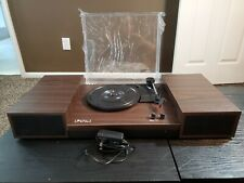 LP&No.1 Retro Belt-Drive Bluetooth Turntable with Separable Stereo Speakers