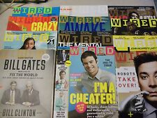 12 Issues of Wired Magazines, Complete Volumes in 2013, Jan-Dec