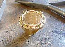 Seal ring gold 10 Francs Napoleon with twist and socket inner