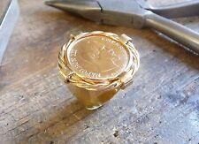 Sello oro 10 Francos Napoleón con twist y casquillo interior