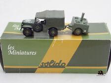 Miniature Métal tank SOLIDO militaire DODGE 4X4 + Cuisine roulante US