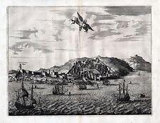 TANGER - sehr schöne Ansicht Pieter van der Aa um 1730 - Original!