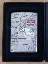 Rare Vintage Japan Zippo Lighter - Marlboro Adventure West - Map - 2001