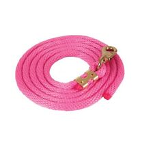 Solid Poly Lead Rope Bull Snap for Horses Hot Pink Broken in