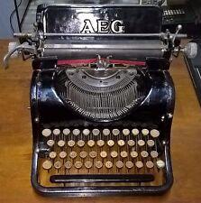 OLYMPIA AEG MACCHINA DA SCRIVERE ART DECO' 1930 OLD TYPEWRITER