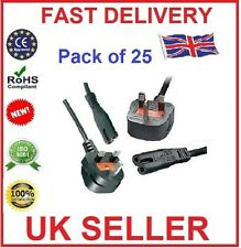 3M Metre Figure of 8 Mains Cable / Power UK Lead Plug Cord IEC C7 (PACK OF 25)