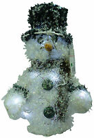 30cm Light Up Snowman Christmas Decoration With White LED Lights (RA10114)