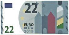 Carnaval fantasiebiljet 22 euro stichting Bouwclub De Waterstraot EURO BCDW 2019
