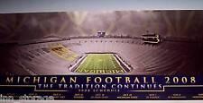 2008 University of Michigan Football Poster + Bonus PRE RENOVATION BIG HOUSE