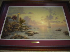"Thomas Kinkade The Sea of Tranquility 18"" x 27"" S/N Lithograph with COA"