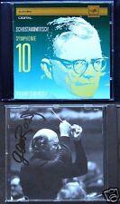 Gennadi ROZHDESTVENSKY Signed SHOSTAKOVICH Symphony 10 USSR CD Eurodisc