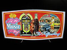 Vintage LED Lighted Sign: Coca-Cola, Jukebox, Drive-in Montage