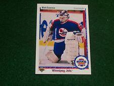 bob essensa (winnipeg jets-goalie) 1990/91 upper deck ROOKIE card #337 nr/mint