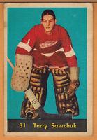 1960-61 , PARKHURST , TERRY SAWCHUK , CARD #31
