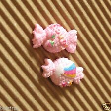 "USA SELLER - 20 x 3/4"" Resin Flatback Glittered Candy Bead Appliques SB477"
