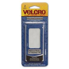 """New Velcro 90200 Industrial Strength Tape 4""""X2"""" 2/Pkg-White"""