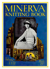 Minerva Knitting Book #18 c.1923 Vintage Autumn Fashion Patterns for Women REPRO