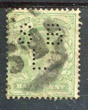 GRANDE BRETAGNE, GB, 1902-10, timbre 106, PERFORE ' , PERFIN STAMP, oblitéré