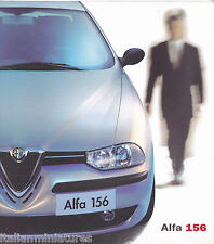Alfa Romeo 156 T. Spark Selespeed 2.5 V6 24V 2.4 JTD French Brochure 2000