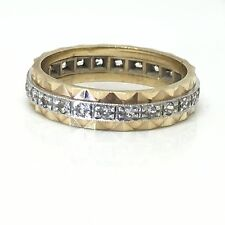 Vintage White Spinel Circa 1960 9ct Gold Ring Full Hoop Size M