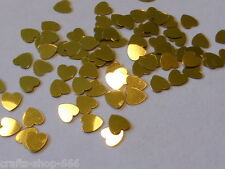 100 Herzen Gold  Streuelemente  Streudeko  Kartengestaltung  Basteln  ca.6 mm