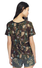 Marc By Marc Jacobs Desert Palm Multi Silk Nata Camouflage Top size 8 NWT $228