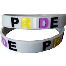 Silicon Rubber Wristband - Non Binary Pride