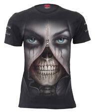 SPIRAL DIRECT ZIPPED - Twin Zipper Sleeve Fashion Tee/Vampire/Skull/Biker/Top