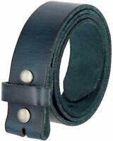 BS-40 Full Grain Leather with Snaps for Interchanging buckles Belt Strap 1 1/2""