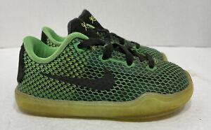 Nike Air Kobe Bryant X 10 VINO Sz 7c Toddler Kids 2014 Green Black RARE