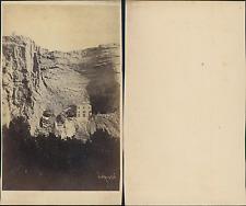 Maison dans une falaise, à identifier Vintage CDV albumen carte de visite,  CD