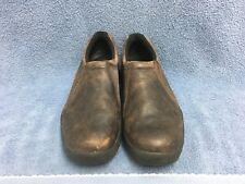 Roper Performance Sport Slip-Ons Brown Crazy Horse Leather Shoes Men's Size 10.5