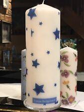 Emma Bridgewater Stellato cielo blu design decorato a mano pilastro candela 20X7CM
