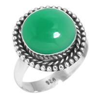 Natural Geen Onyx Ring925 Sterling Silver RingOnyx RingRingsBridesmaid GiftPromise RingSolitaire RingGift for WomenAnniversary Gift.