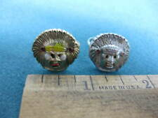 Vintage set of two old Indian Head with Headdress, Bubblegum machine toy rings