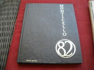 "1982 Thomas Jefferson High School Yearbook ""Monticello"" Pittsburgh,Pennsylvania"