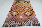 "Antique Anatolia Turkish Antalya Barak Kilim 65,7""x114,1"" Area Rug,Floor Carpet"