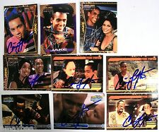 Lot of 9 Autographed Trading Cards - Cirroc Lofton as Jake Sisco STAR TREK DS9