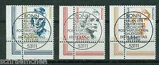 Bund 2295 - 2297 , o , Eckrand mit Bonner FDC Stempel