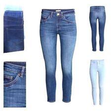 Nouveau jeans zara femme tendances  - Wash Denim Spandex taille 36 - 46