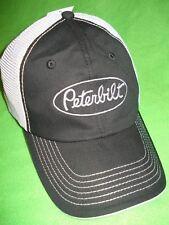 PETERBILT HAT:     Black / Silver Mesh Back Cap       *FREE SHIPPING *