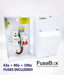 SF0100 FUSEBOX METAL CLAD SWITCH FUSE ISOLATOR 100A 1P+N 63A, 80A, 100A FUSES