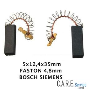 2 Carboncini Spazzole Motore Lavatrice Siwamat Aeg Bosch Siemens 154740 COMPAT